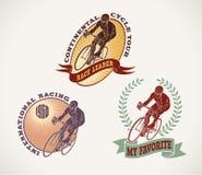 De etiketten van het fietsras Royalty-vrije Stock Foto's