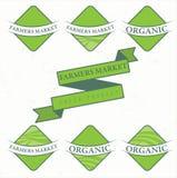 de etiketten van het illustratielandbouwbedrijf Vector Royalty-vrije Stock Fotografie