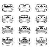 de etiketten van het illustratielandbouwbedrijf Vector Stock Afbeeldingen