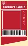 De etiketten van het product Stock Afbeeldingen
