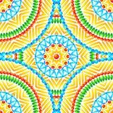 De etnische Afrikaanse stijl omcirkelt naadloos patroon Royalty-vrije Stock Afbeelding