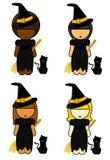 De etnische Meisjes van de Heks Royalty-vrije Stock Afbeeldingen