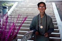 De etnische minderheden van China, de oude dame van Yi Royalty-vrije Stock Afbeeldingen