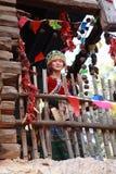 De Etnische Vrouw van Naxi Royalty-vrije Stock Afbeeldingen