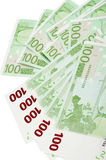De EU-Bankbiljetten Stock Afbeeldingen