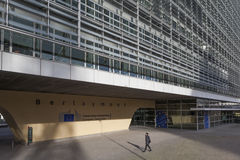 De EU die het Berlaymontgebouw Brussel bouwen Stock Fotografie
