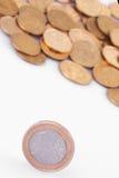 De EU (Europese Unie muntstukken) Stock Foto's
