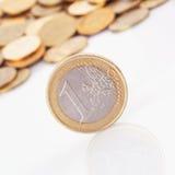 De EU (Europese Unie muntstukken) Stock Fotografie