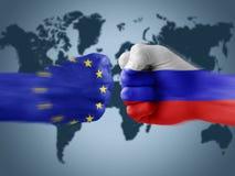 De EU x Rusland Stock Foto's