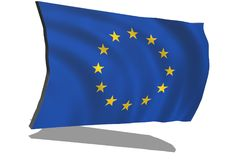 De EU-vlag in 3D stock illustratie