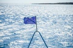 De EU-vlag op het schip Royalty-vrije Stock Fotografie