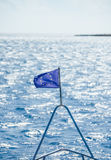 De EU-vlag op het schip Royalty-vrije Stock Foto's
