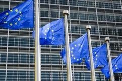De EU-vlaggen Stock Foto's