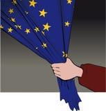 De EU-vlagtrekkracht Royalty-vrije Stock Afbeeldingen