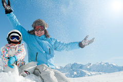 De euforie van de winter Stock Afbeeldingen