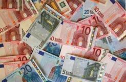 (De Euro) achtergrond van het geld Stock Afbeeldingen