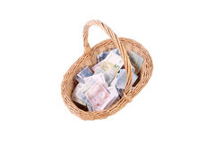 De euro bankbiljetten sluiten omhoog, Europese munt Stock Afbeeldingen