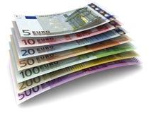 De euro Bankbiljetten van het Geld Royalty-vrije Stock Foto