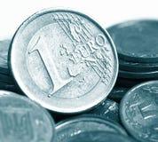 De euro cent van het muntstuk Stock Foto's