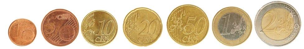 De euro cent van het muntstuk Stock Foto