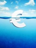 De euro daalt Stock Foto's