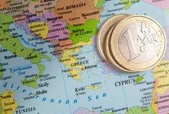 De euro en Griekenland Stock Foto's