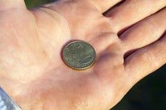 De euro fotografeerde dicht omhoog Royalty-vrije Stock Afbeelding