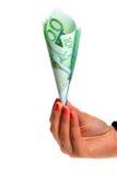 De euro geldgroei stock afbeeldingen