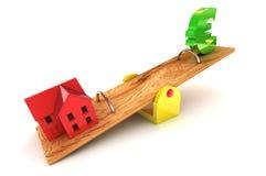 De Euro Illustratie van de Schuld van de huisvesting Stock Fotografie