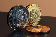 De euro muntstukken 2014 van Letland Royalty-vrije Stock Afbeeldingen