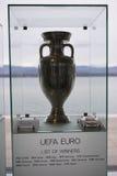 De Euro Trofee van UEFA royalty-vrije stock afbeelding