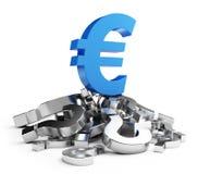 De euro van de crisis Stock Afbeeldingen