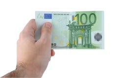 De Euro van de Holding van de hand Royalty-vrije Stock Fotografie