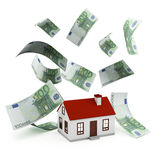 De euro van de huishypotheek Stock Foto's