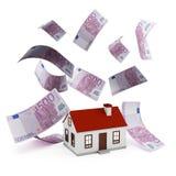 De euro van de huishypotheek Stock Afbeelding
