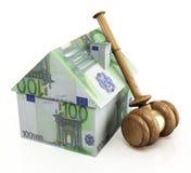 De euro van de onroerende goederenveiling Royalty-vrije Stock Afbeeldingen