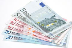 De euro van het contante geld Stock Foto