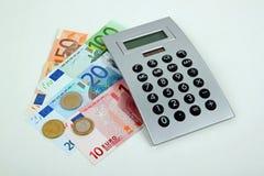 De euro van het geld Stock Afbeeldingen
