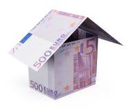 De euro van het geldhuis Stock Afbeeldingen