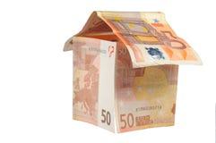 De euro van het plattelandshuisje Royalty-vrije Stock Foto