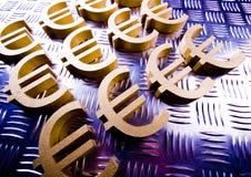 De Euro van het symbool Royalty-vrije Stock Foto's