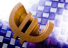 De Euro van het symbool Stock Foto's