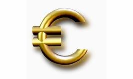 De euro van het symbool Royalty-vrije Stock Foto