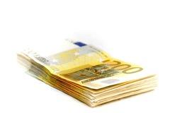 De euro van het tienduizend op een hoop Royalty-vrije Stock Afbeelding