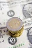 De euro van muntstukken Stock Afbeelding