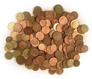 De euro van muntstukken Stock Foto's