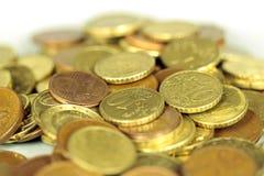 De euro van muntstukken Stock Foto