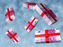 De Euro van pakken Stock Afbeeldingen