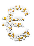 De euro van pillen stock foto's