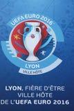 De Euro Voetbal 2016 van UEFA in Lyon, Frankrijk Royalty-vrije Stock Foto's